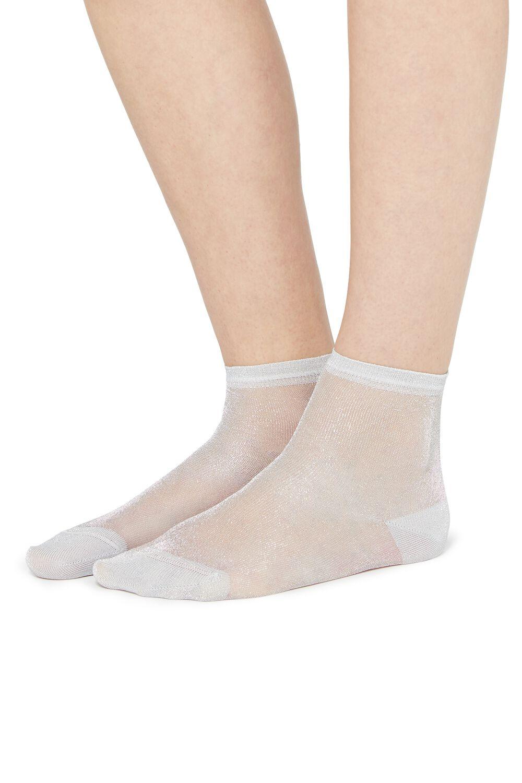 Lightweight Crew Socks with Glitter