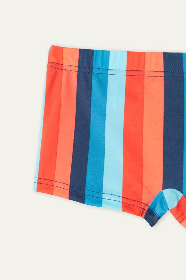 Boy's Printed Swim Shorts
