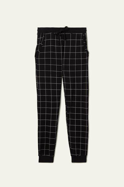 Lange Hose aus schwerer Baumwolle Basic