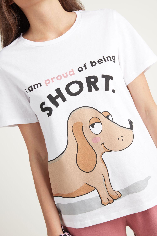 Pijama Curto Estampa Cão
