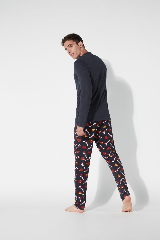 Men's Long Superman Pyjamas