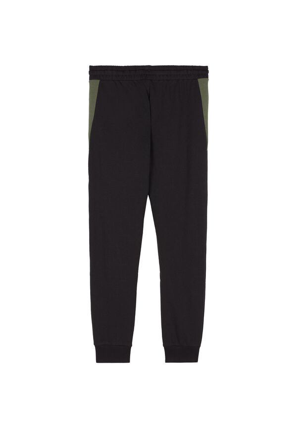 Long Sweatshirt Fabric Trousers with Inserts