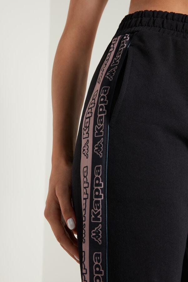 Sweathose mit Taschen und Kappa Seitenstreifen
