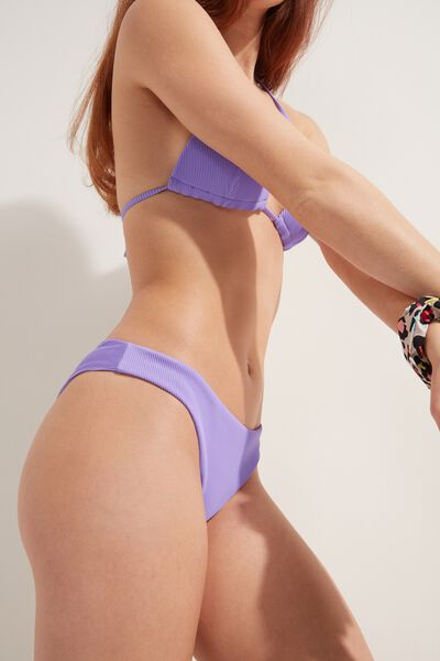 Ribbed Brazilian Bikini Bottoms