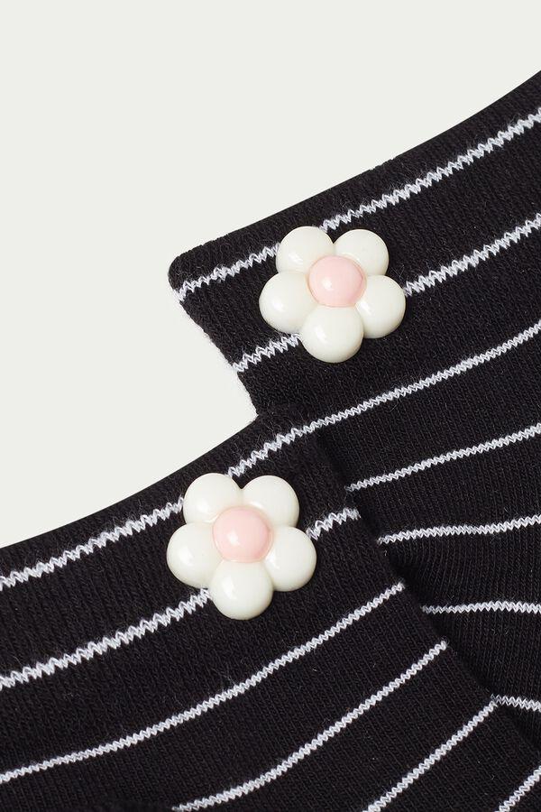 Chaussettes Invisibles en Coton Fantaisie avec Empiècement