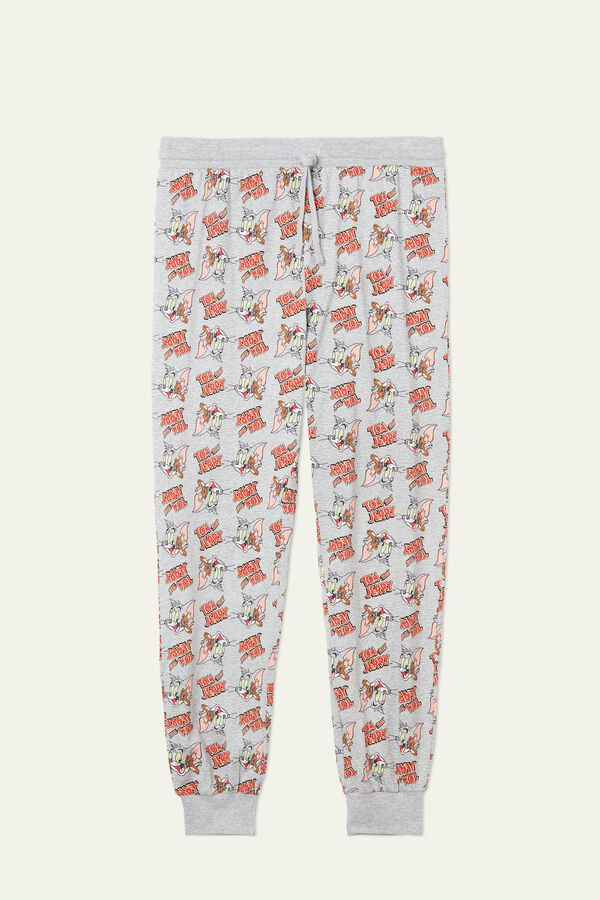 Long Cotton Tom and Jerry Print PJ Pants