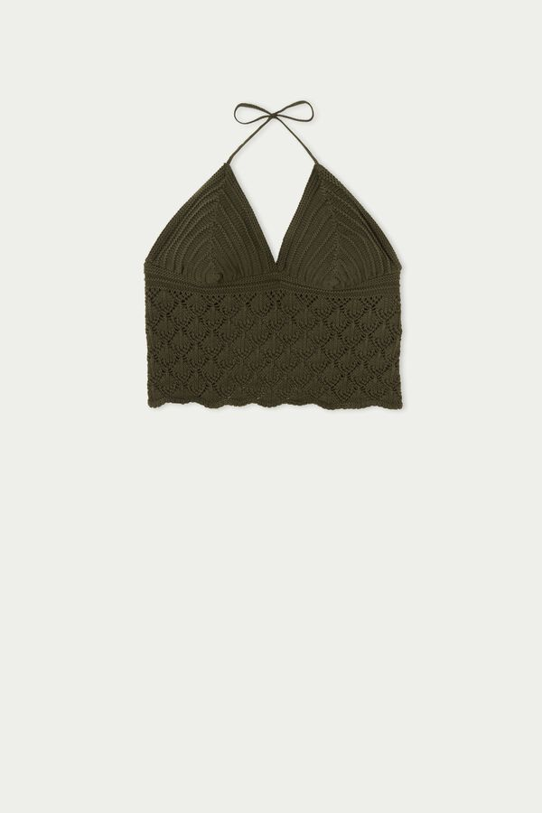 Top Corto Triangular de Crochet