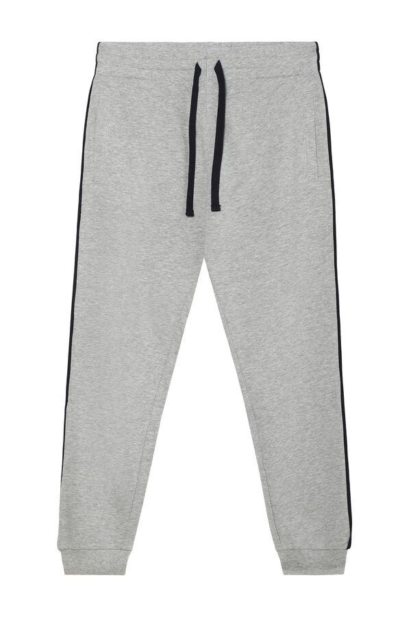 Pantalon Largo Tipo Sudadera Piping Tezenis