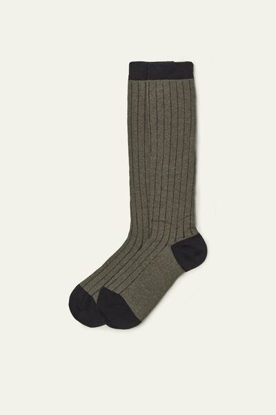 Long Lightweight Patterned Cotton Socks