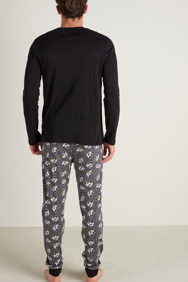 Mens Panda Print Pajama Set
