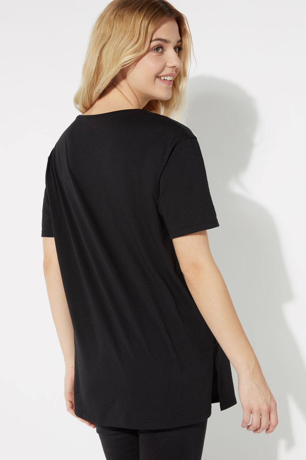 Cotton T-Shirt with Sporty Print