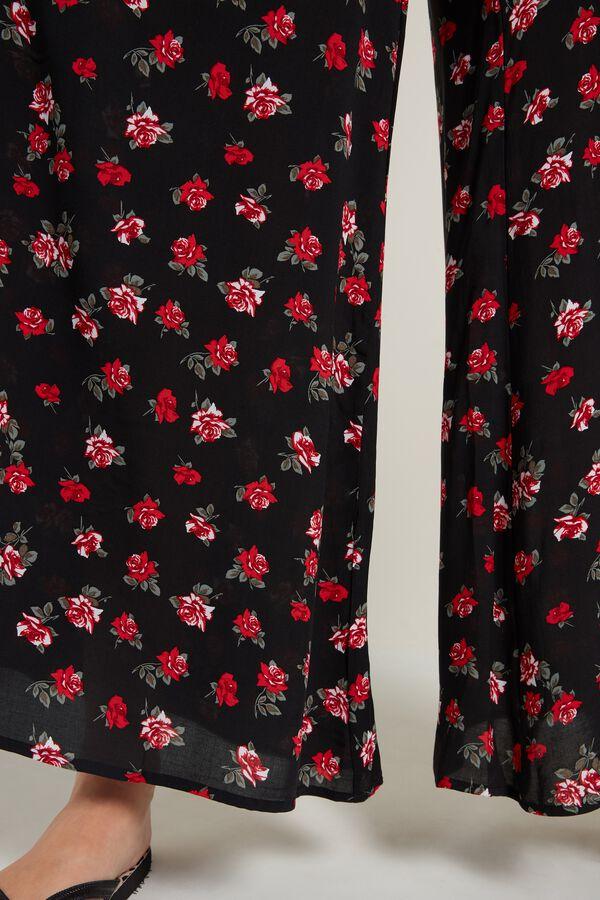Spodnie Japońskie Materiałowe z Wiązaniem
