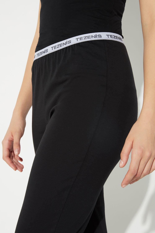 Long Cotton Logo Trousers