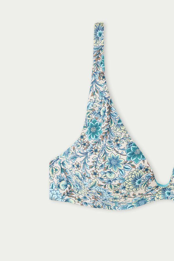 Sweet Flowers Padded Push-Up Bikini Top