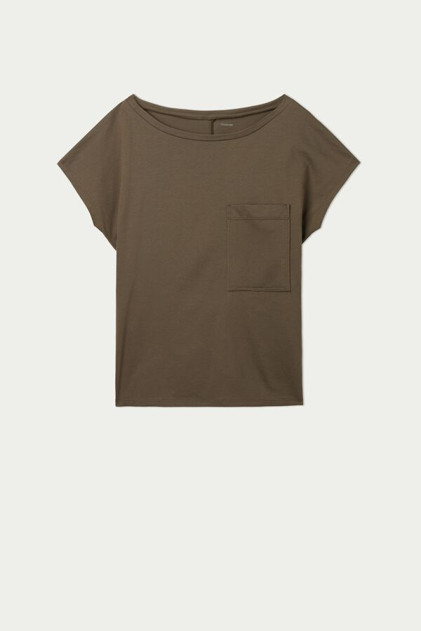 Cotton T-Shirt with Breast Pocket