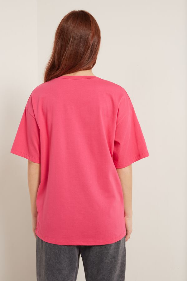 Oversized Printed Cotton T-Shirt