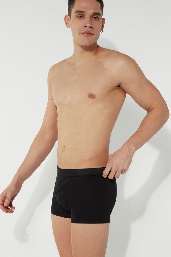 Boxer Με Κρυφο Λαστιχο από Βαμβακερό Stretch Ύφασμα