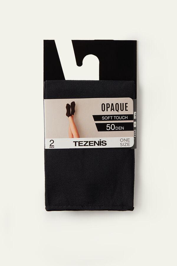 2 X 50 Den Soft Touch Microfiber Socks