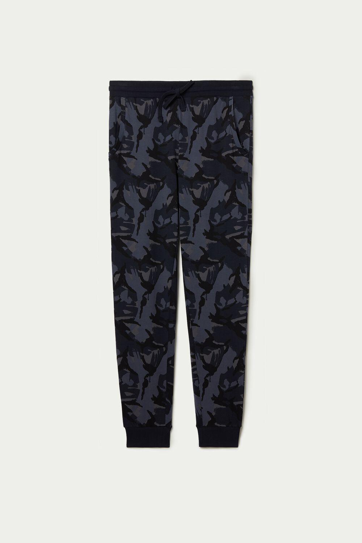 Pantalon Long en Coton Épais Basique