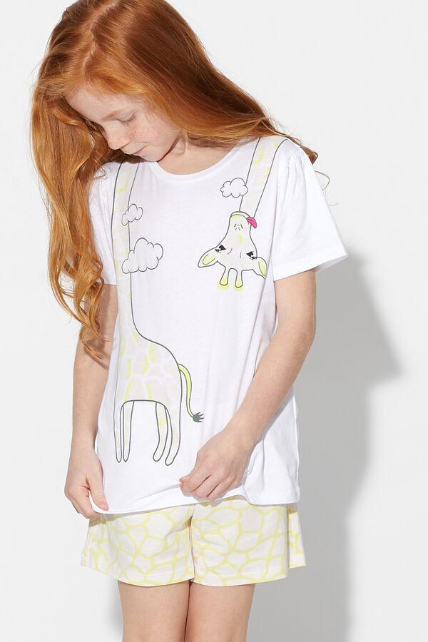 Krátke Pyžamo Žirafa