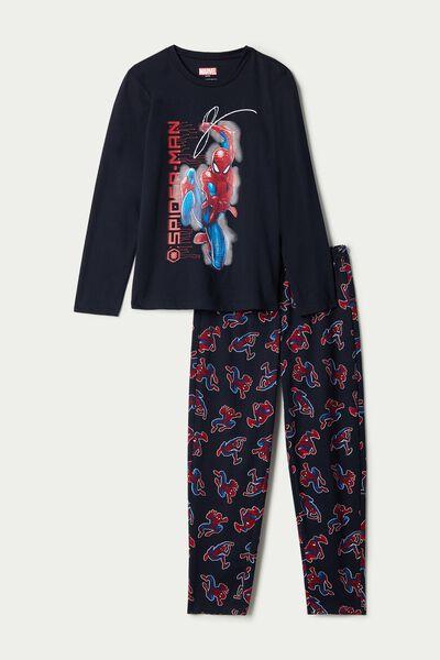 Nyomott Spider-Man Mintás Könnyű Pamut Hosszú Pizsama