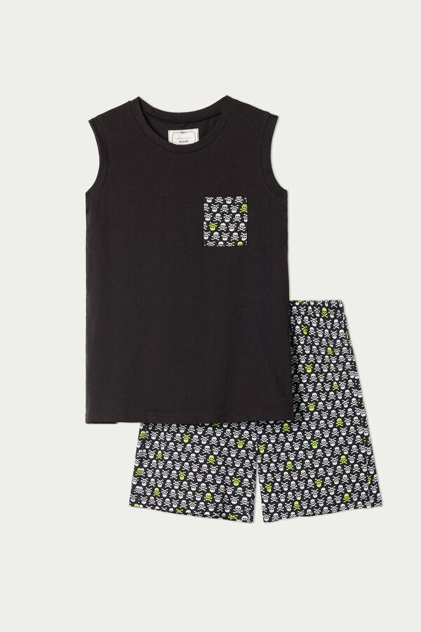 Short Skull Print Pyjamas