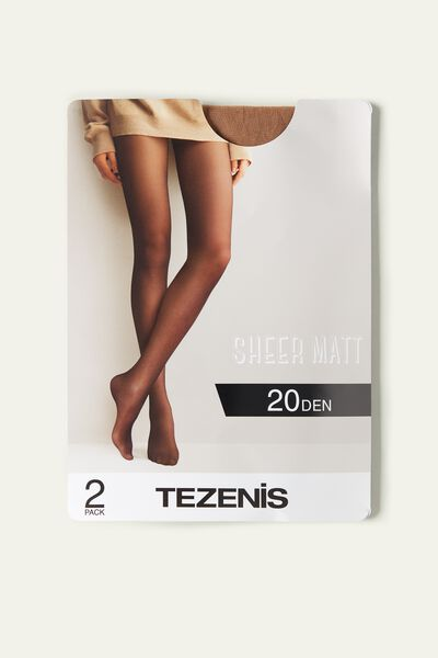 2 X Collants Transparentes 20 Den