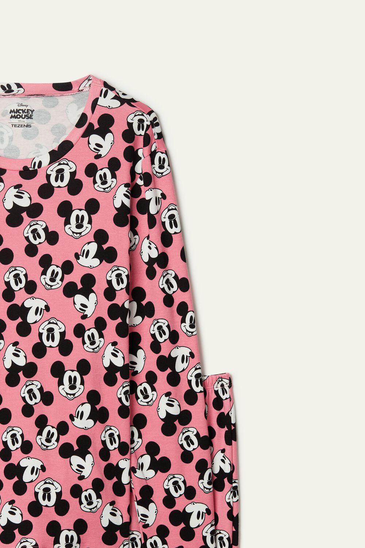 Dlouhé Bavlněné Pyžamo s Mickey Mousem