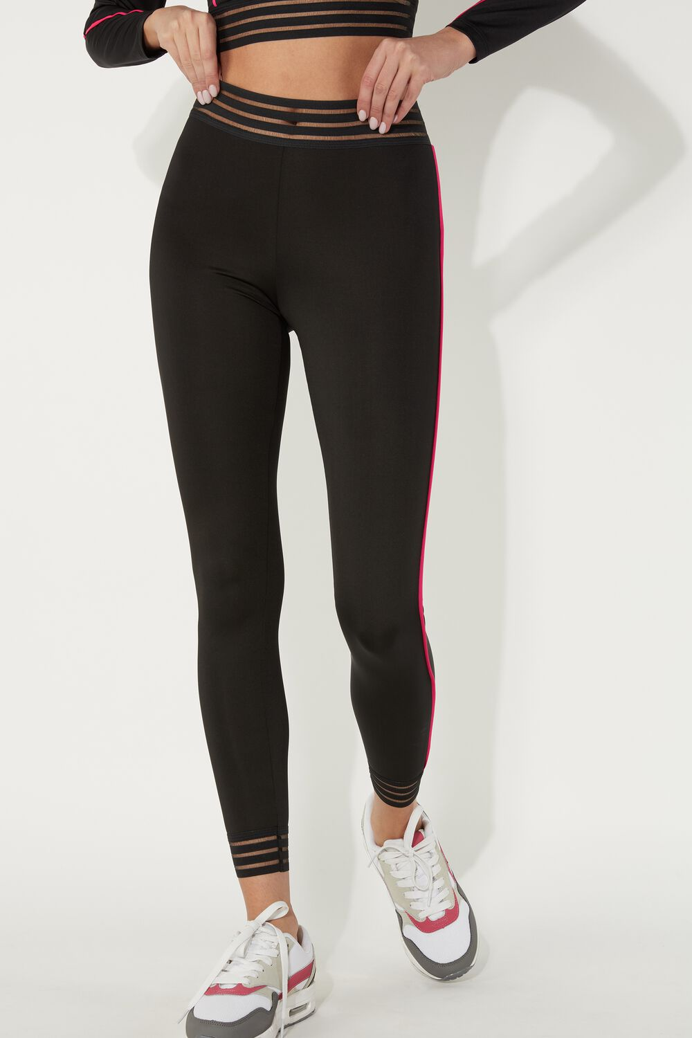 Sporty Piping Leggings