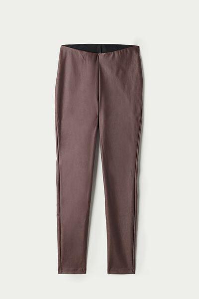 Long Coated Fabric Pants