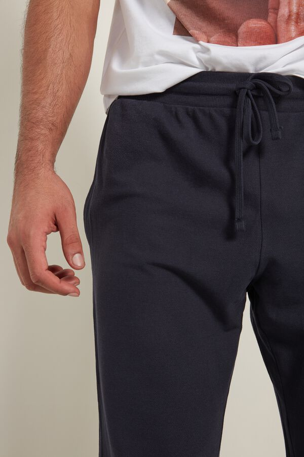Piquet Sweatpants with Pockets