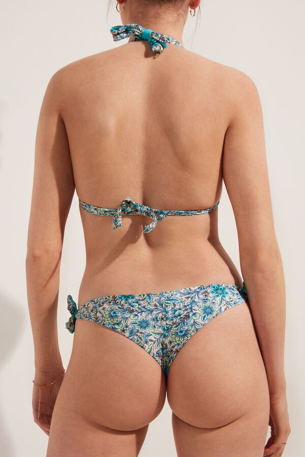 Bikini Brasileño con Lazos Sweet Flowers