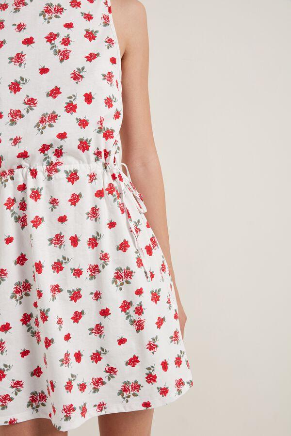 Κοντό Αμάνικο Φόρεμα με Κορδόνι