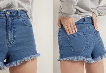 Short in Jeans Sfrangiato