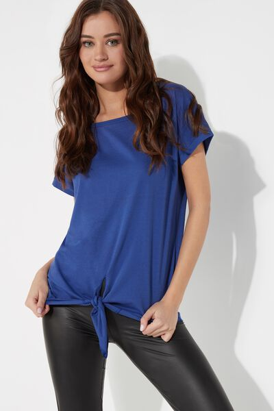 Cotton T-Shirt with Knot
