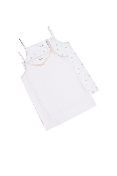 2 X Printed Lace Camisole