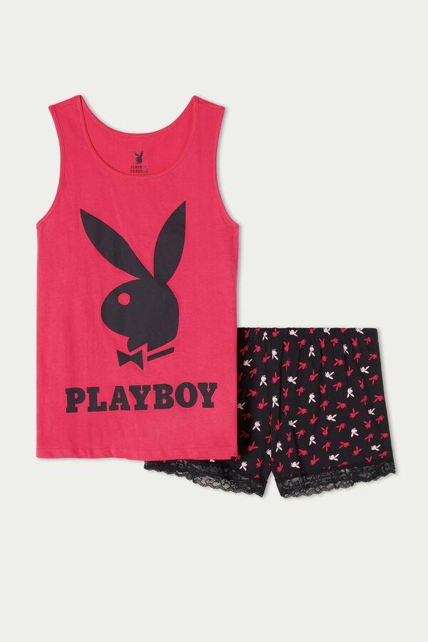Pyjama Court à Débardeur Playboy