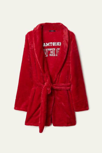 Children's Fleece Bathrobe with Sash and Patch