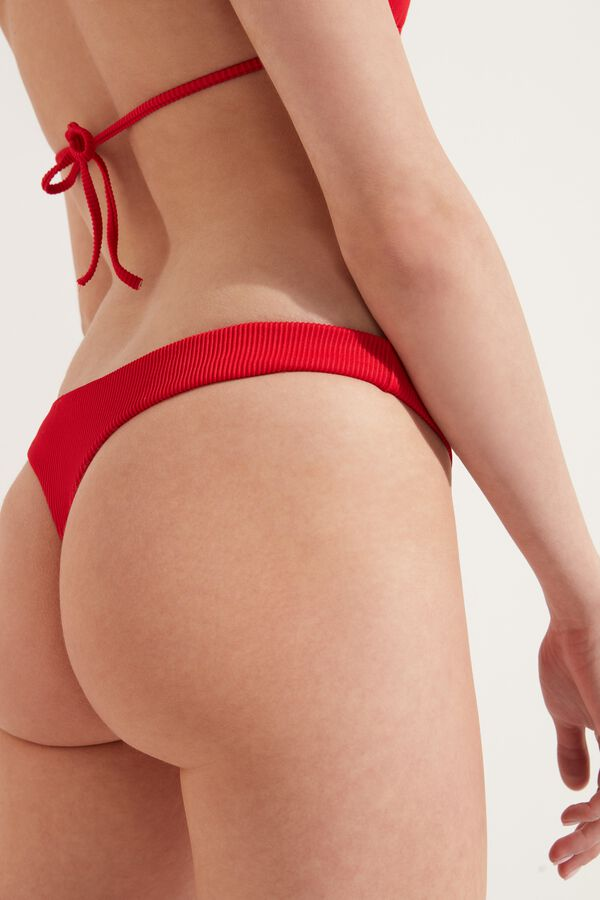 Ribbed G-String Bikini Bottoms