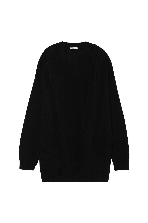 Long-Sleeved Loungewear Open Cardigan