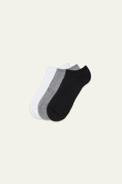 3 x Sportovní Krátké Bavlněné Ponožky