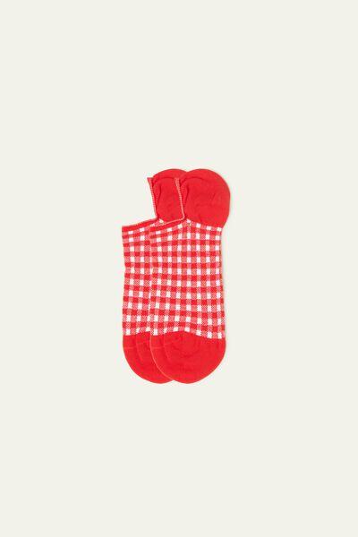 Chaussettes Invisibles en Coton Échancrées Imprimées