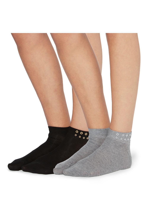 2 X Low-Cut Sock with Appliqué Detailing