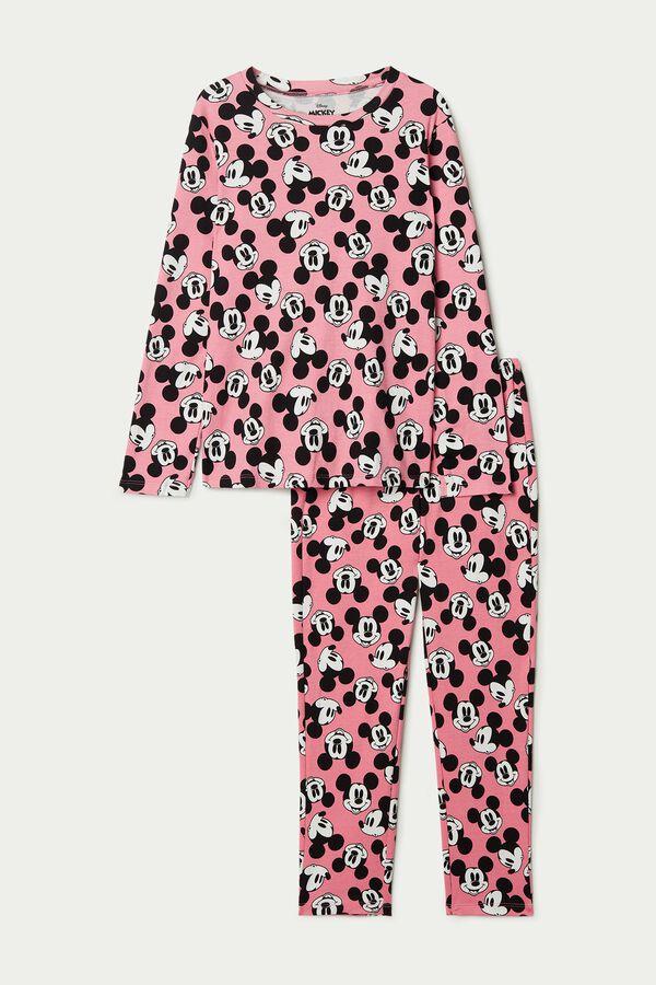 Pijama Largo para niñas de Algodón Mickey Mouse