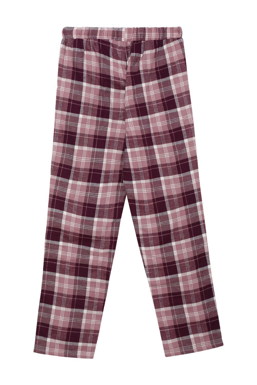 Long Flannel Drawstring Pants