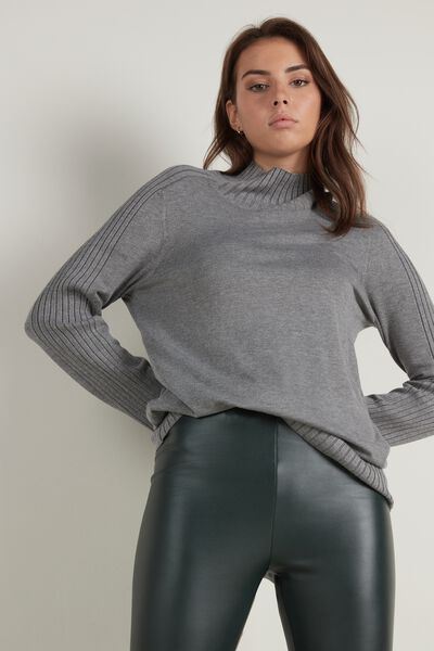 Long Sleeve Mock Turtleneck Top