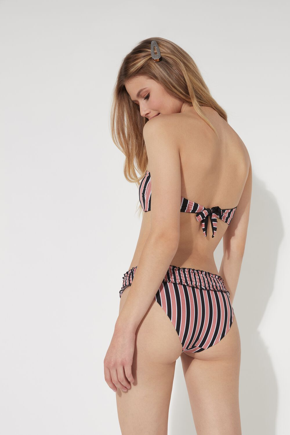 Beach Stripes Smocked Bikini Bottoms