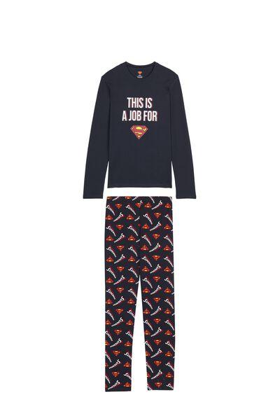 Pánske Dlhé Pyžamo Superman