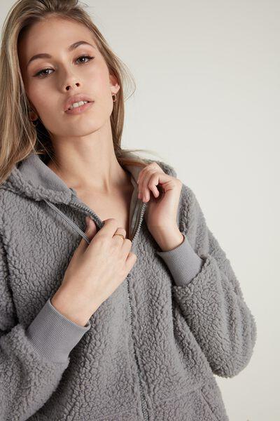 Hooded Fleece Sweatshirt with Zip