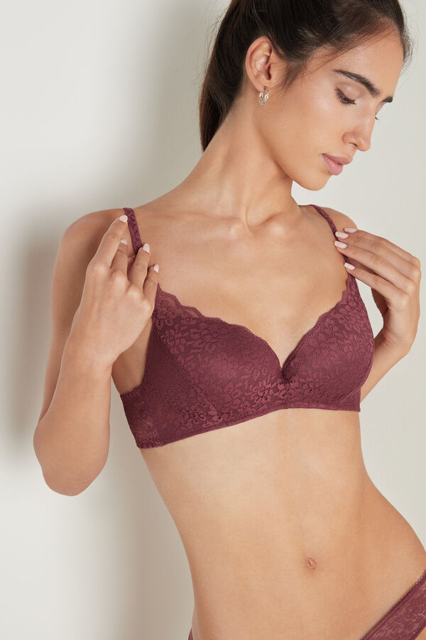Rome Recycled Lace Padded Push-Up Bra
